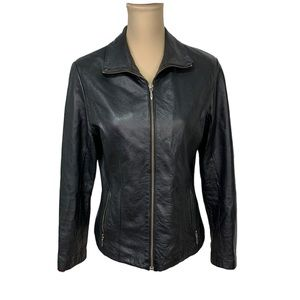 Wilson Leather Black Jacket Maxima Sz S.